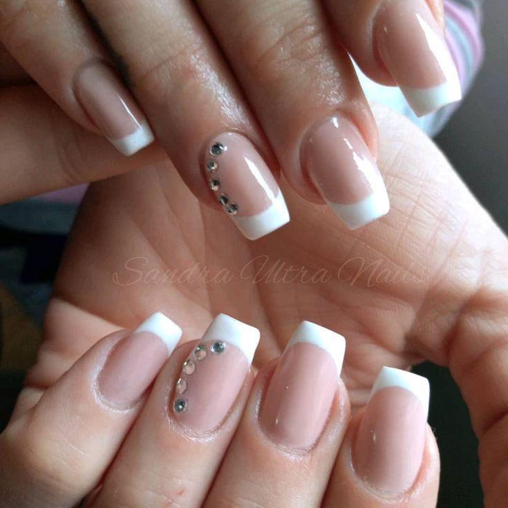 90+ french tip acrylic nails square 2018 #frenchnails | French Tip ...