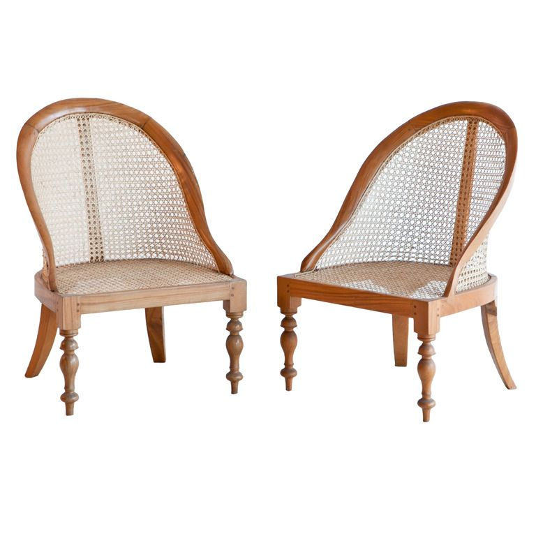 Pair Of Anglo Indian Satinwood Caned Armchairs 1stdibs Com Caned Armchair Chair Furniture