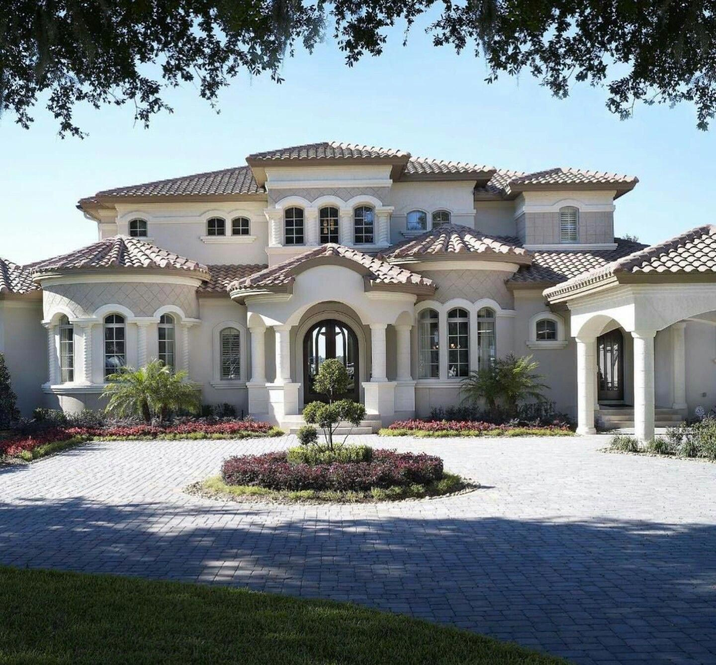 New Luxury Home Builder: Mediterranean Style Home #Tuscanstyle