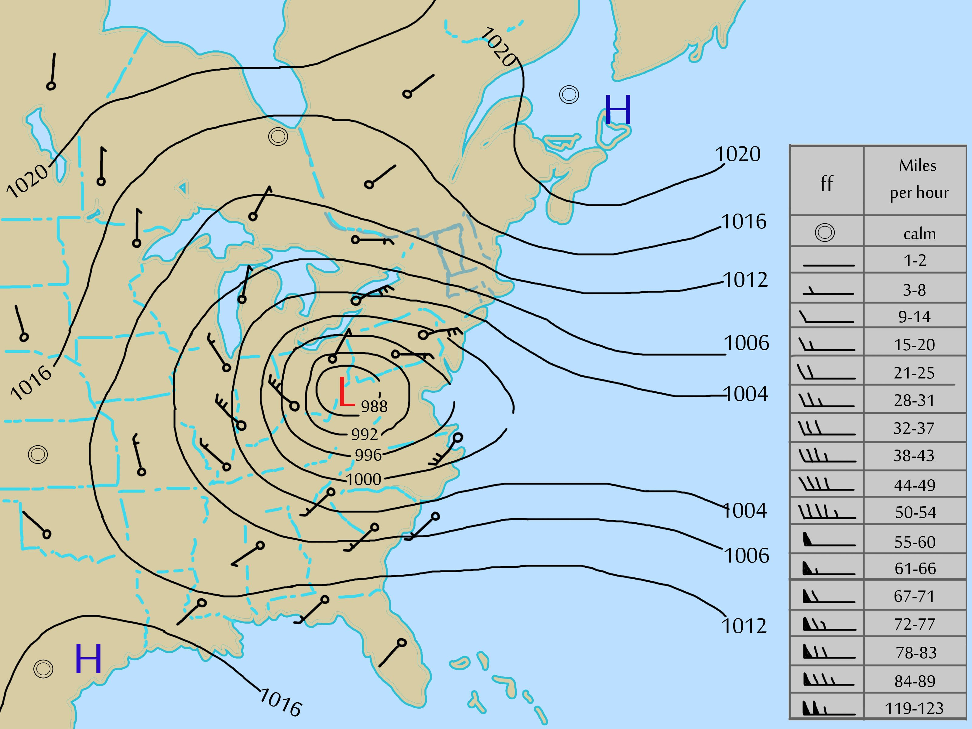 How to Read a Weather Map Good.