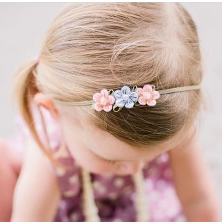 """For the best fit, measure the head where the headband will be and let us know the size.  If you would like to follow our general sizing, you can use these measurements:          Newborns/0-3 months - 13"""" Infant/4-12 months - 14.5"""" Toddler - 16"""" Girls-Adults - 18"""""""