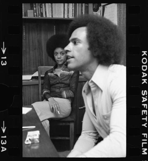 Huey Newton & wife, Gwen.
