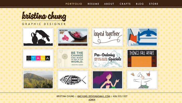 web page portfolio designs