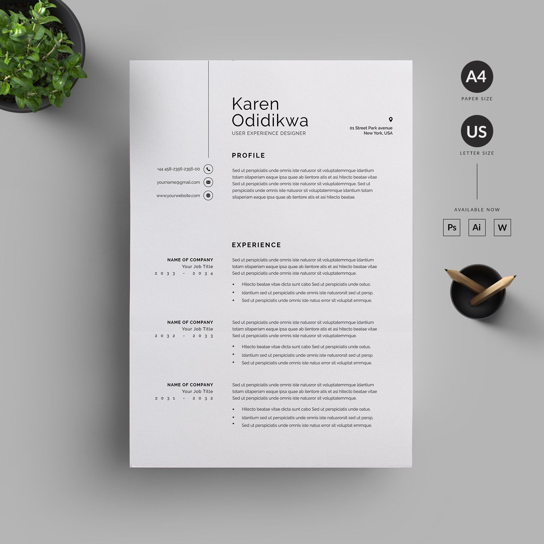 Resume/CV By Reuix Studio On @creativemarket