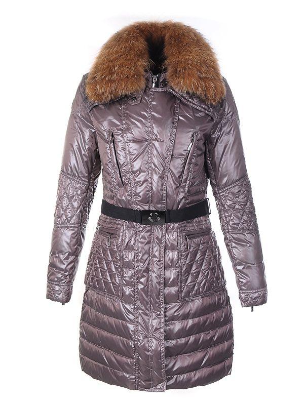 02ab95ddd8d moncler shop - Moncler Down Coat Women With Belt Long Coffee ...