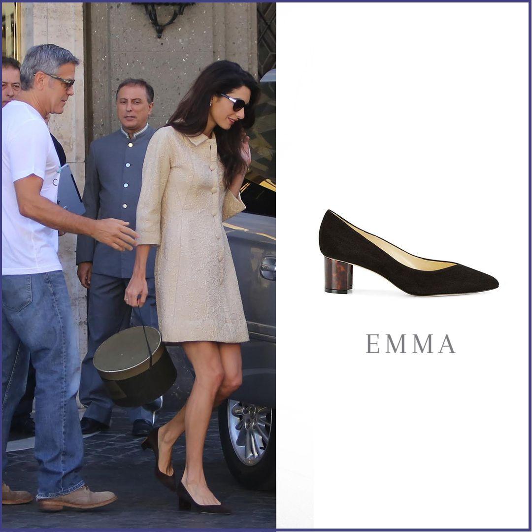 1fb65de4dd05 Amal Clooney wearing Sarah Flint  Emma  http   www.sarahflint.