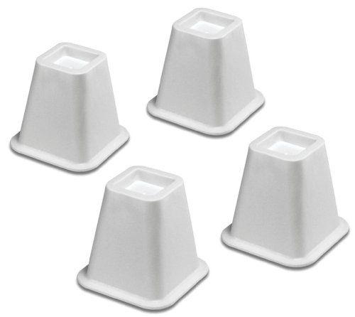 Best Whitmor 6511 3349 Wht White Bed Risers Set Of 4 Whitmor 640 x 480