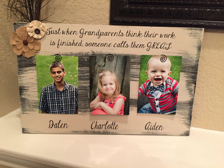 Great grandma christmas grandparent gift Custom frame mimi papa ...