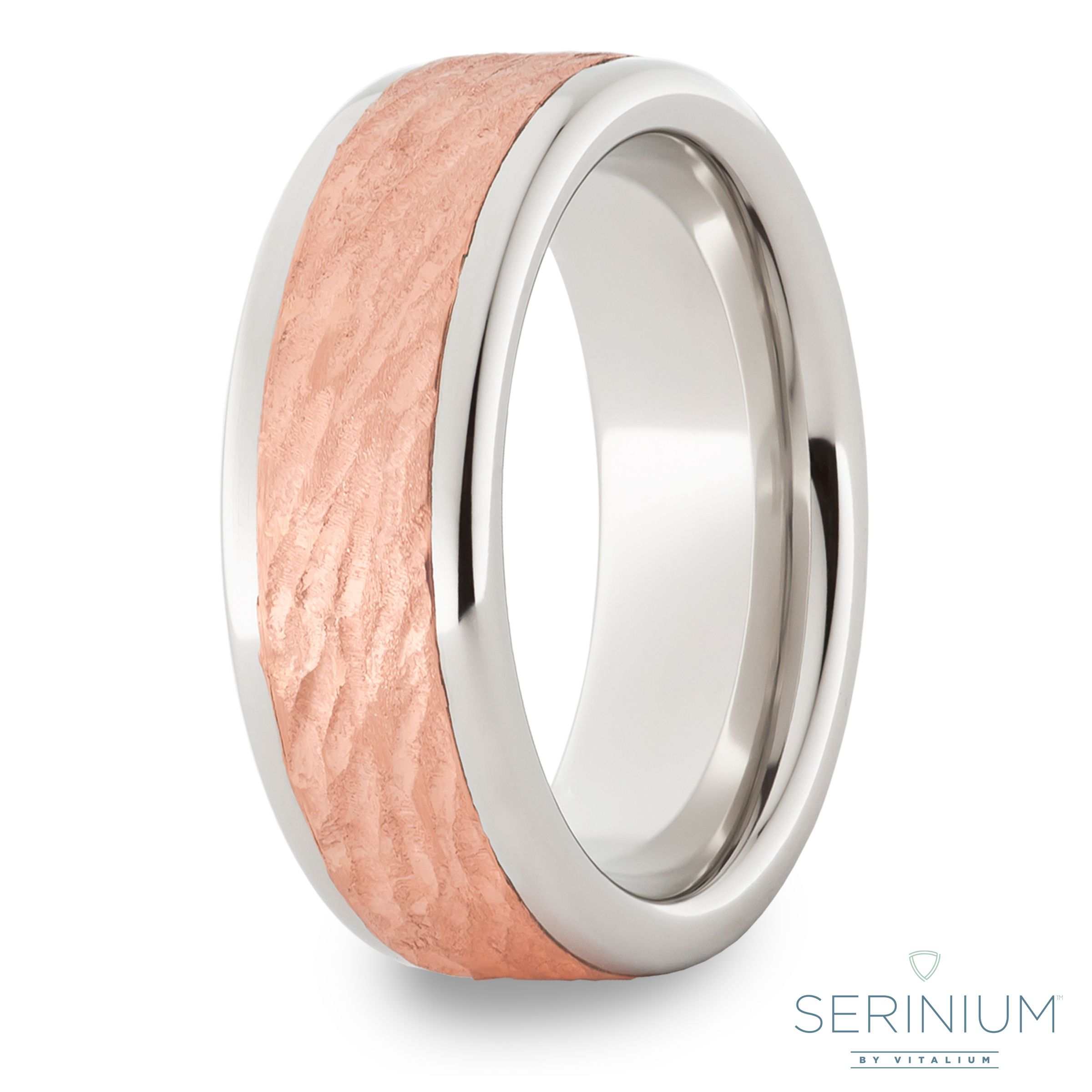 gold wedding bands mens band titanium lashbrook rose and meteorite in white