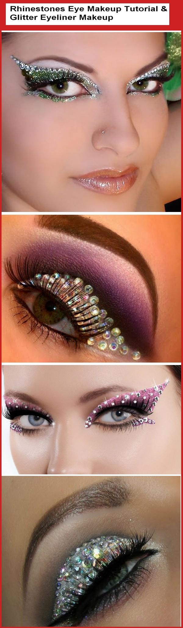Rhinestones Eye Makeup Tutorial (With images) No