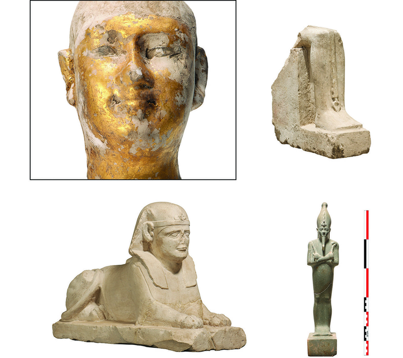 Sphinx, Baboon and Cat Statues Found in Ancient Egyptian ...