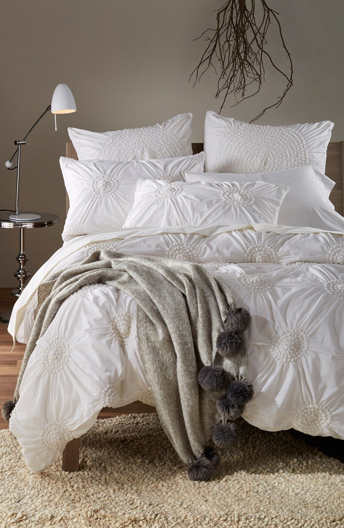 Good Nordstrom At Home Brushed Throw With Pompoms | Nordstrom