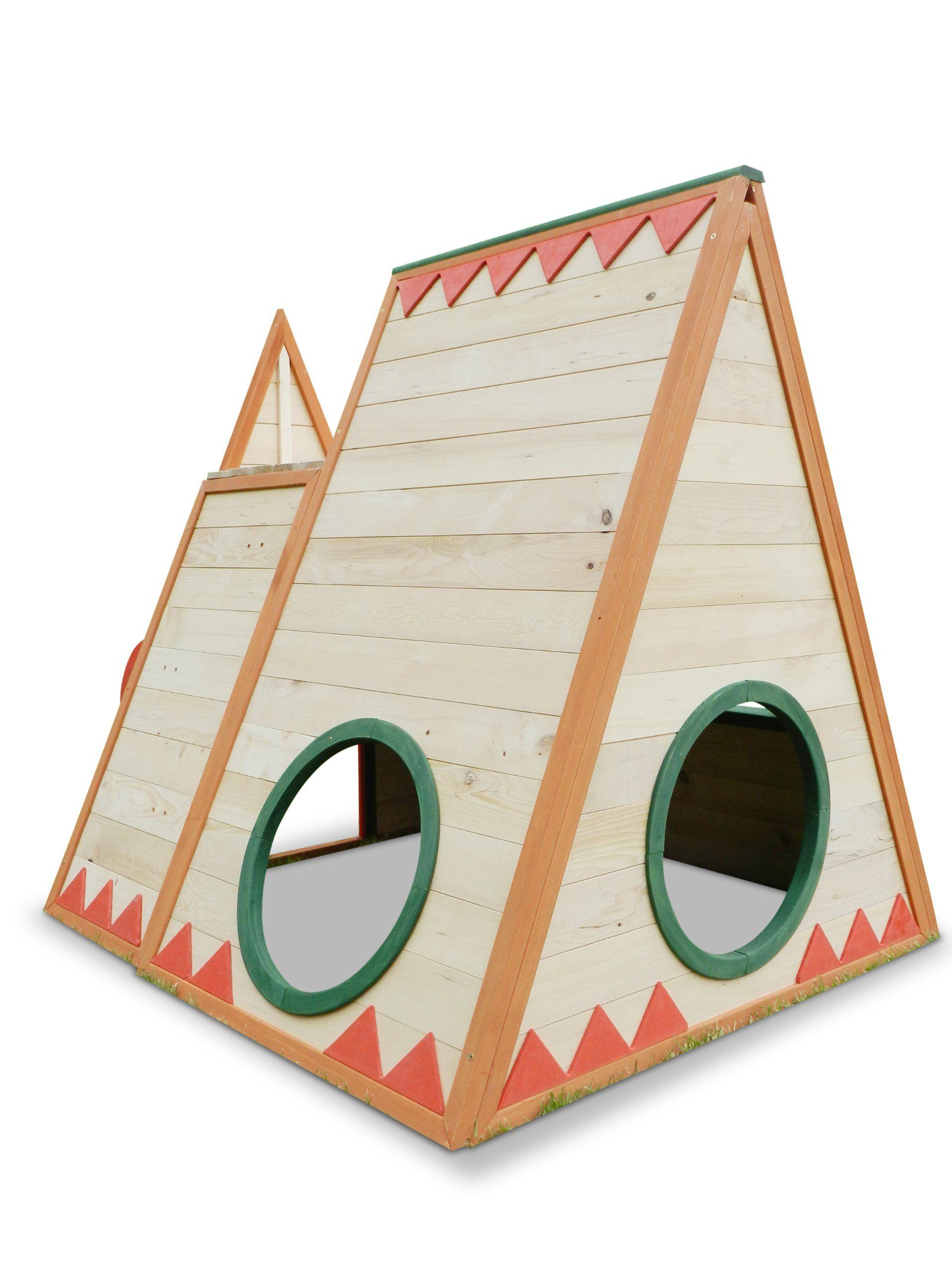 kinderspielhaus tini spielhaus aus holz mit rutsche kids garden ideas spielhaus spielhaus. Black Bedroom Furniture Sets. Home Design Ideas