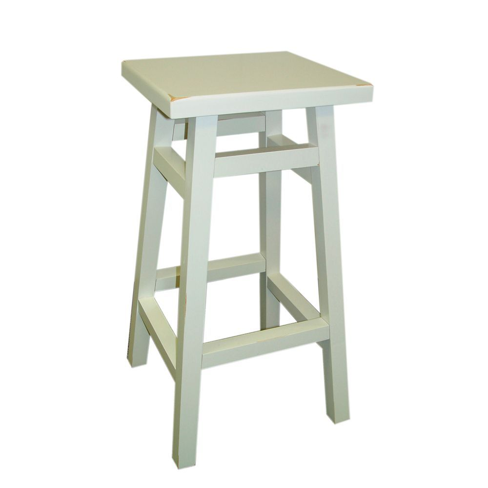Surprising Antique White 24 Inch Omalley Pub Counter Stool Kitchen Machost Co Dining Chair Design Ideas Machostcouk