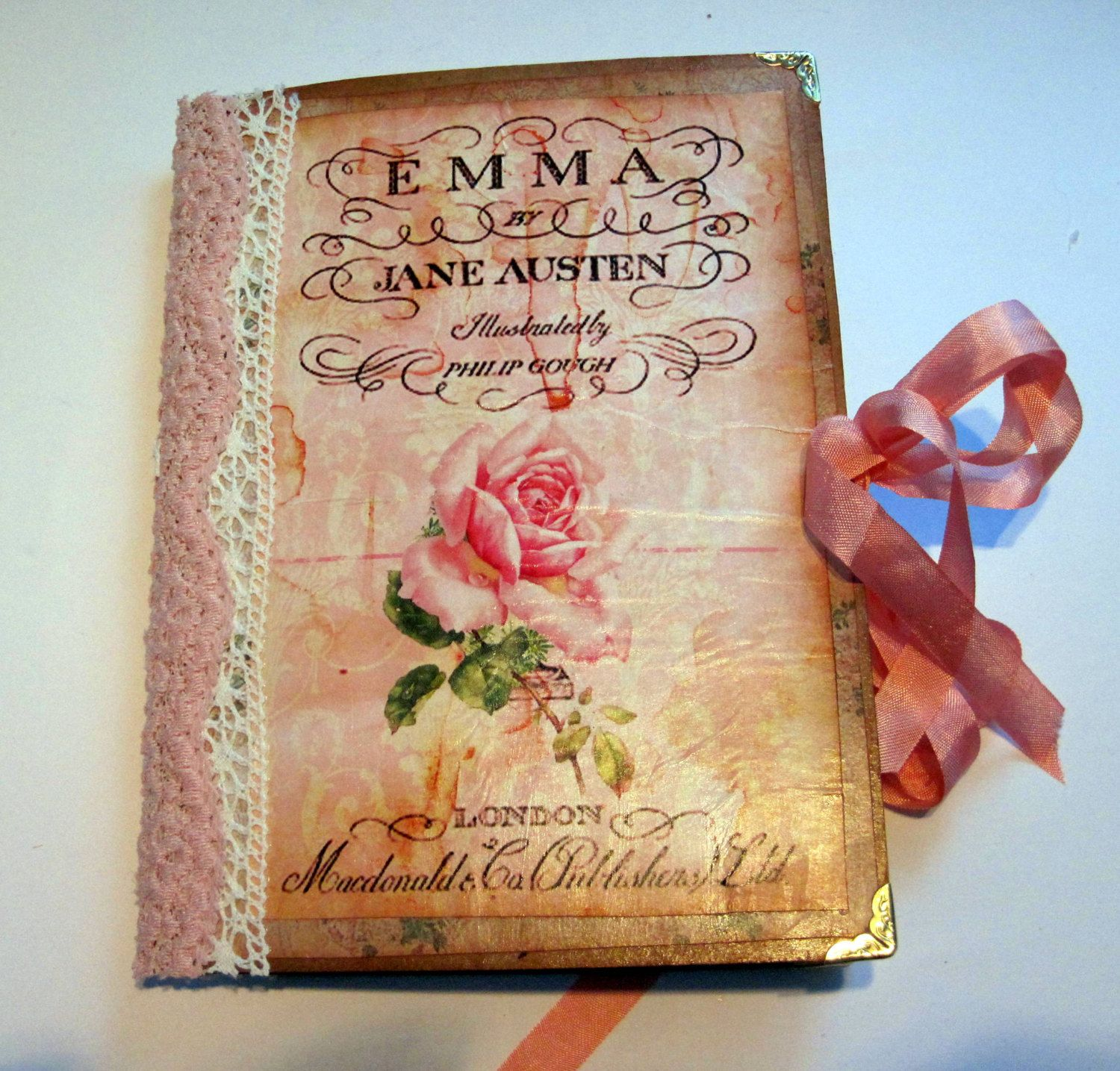 Jane Austen themed journal by TuiresCraftsThings on Etsy