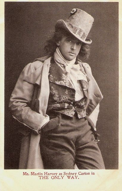 British actor-manager Sir John Martin Harvey (1863-1944) was one of the last great romantic actors of the English theatre. His most famous play was The Only Way (1899), an adaptation of Charles Dickens' A Tale of Two Cities