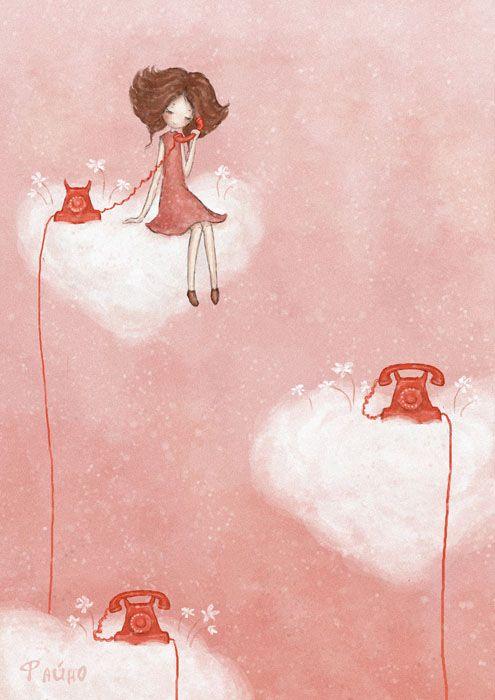 in pink by Sasha Salmina, via Behance