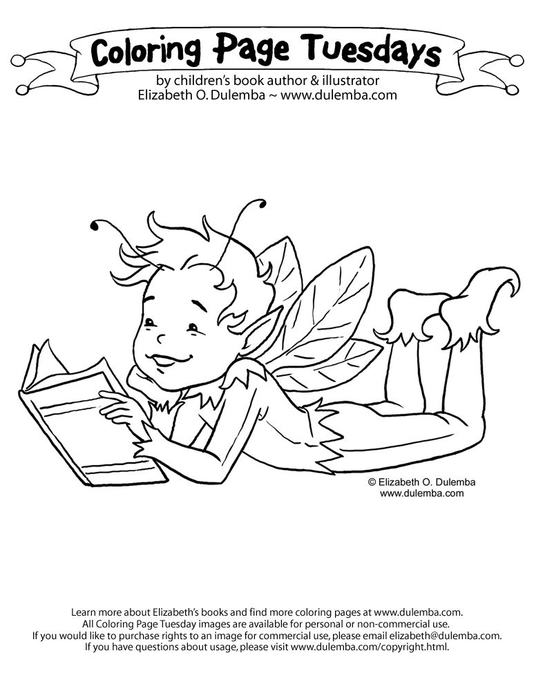 Coloring Page Tuesday Boy Fairy Reading Coloring Pages Hello Kitty Coloring Christmas Tree Coloring Page