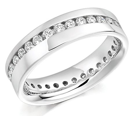 Diagonal wave full eternity/wedding ring 0.75ct