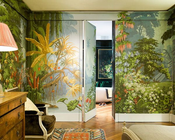 amazing hand painted tropical wallpaper landscaping murals ideas
