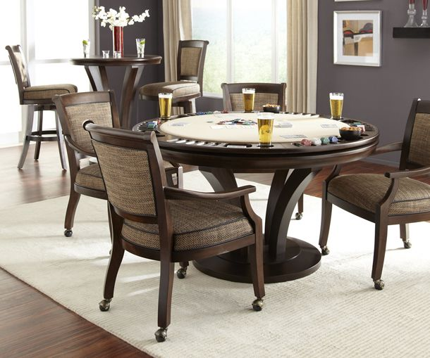 Venice Poker Game Table Set Available At Robbies Billiards In Maryland,  Virginia, And DC