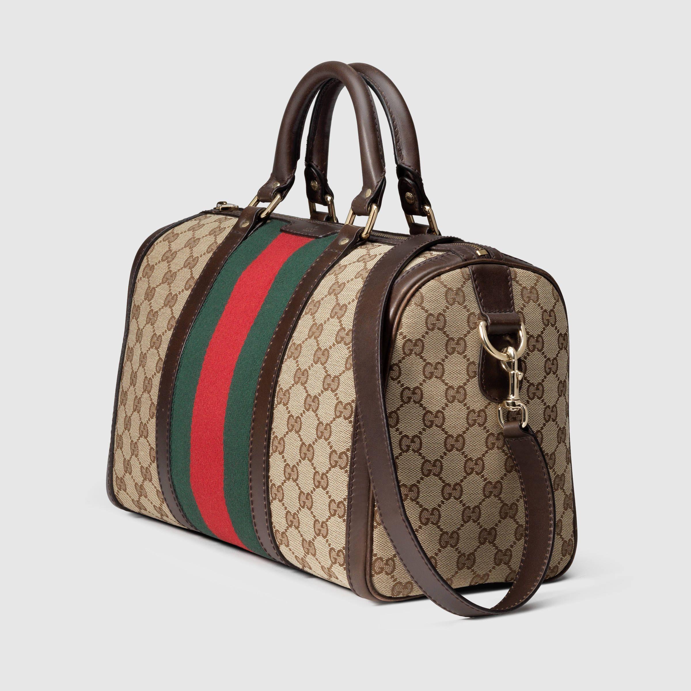 157ba305c Gucci Women - Vintage Web original GG canvas boston bag - 247205KQW5G9791