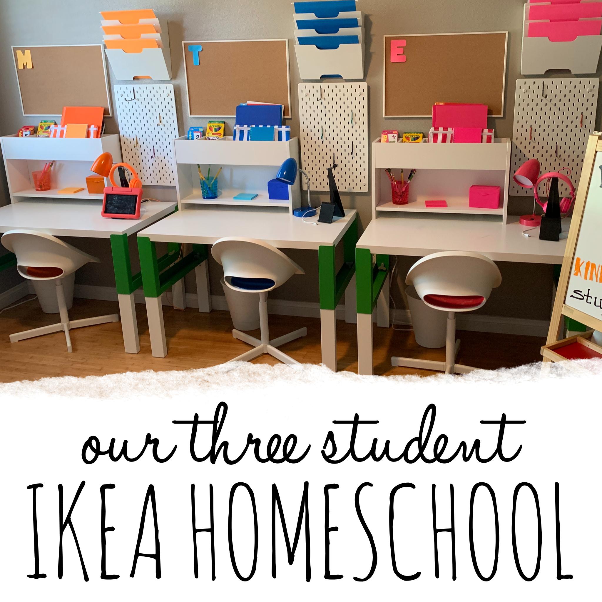 Ikea Homeschool Classroom In 2020 Kids Homework Room Homeschool Room Design Kids Homework Station
