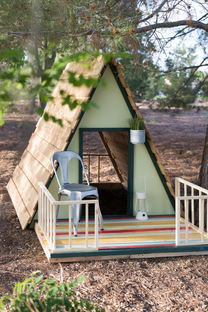 DIY AFrame Playhouse! How cute is this!?! How to Make a