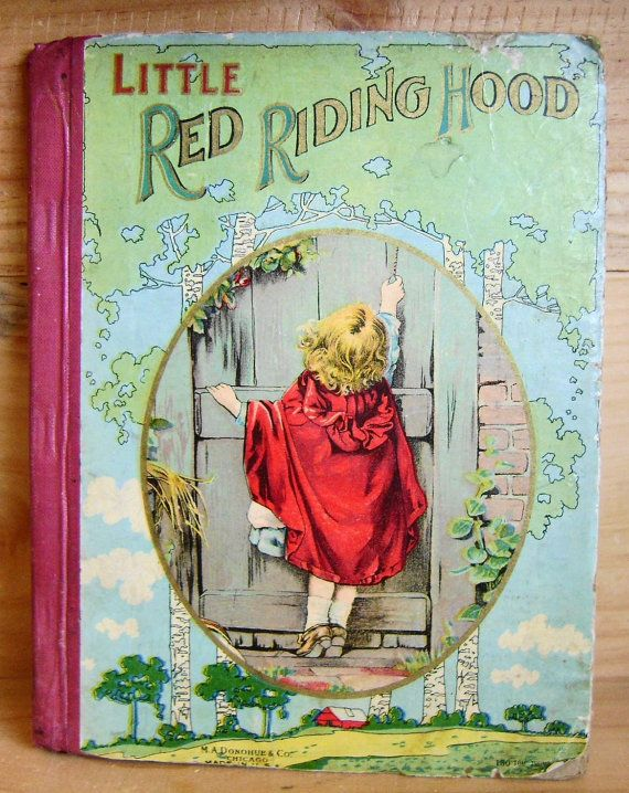 Antique Book Little Red Riding Hood 1890s Antique Books