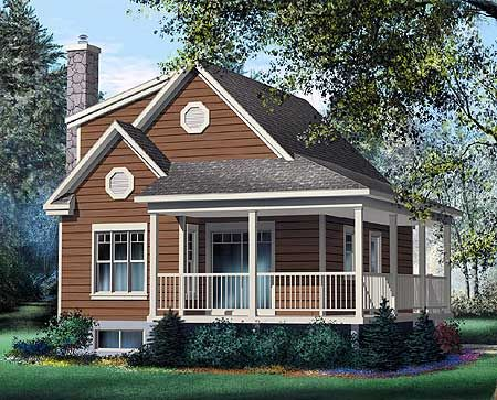 Plan 80562pm Cute Vacation Cottage Small Cottage House Plans Country Style House Plans Cottage Plan
