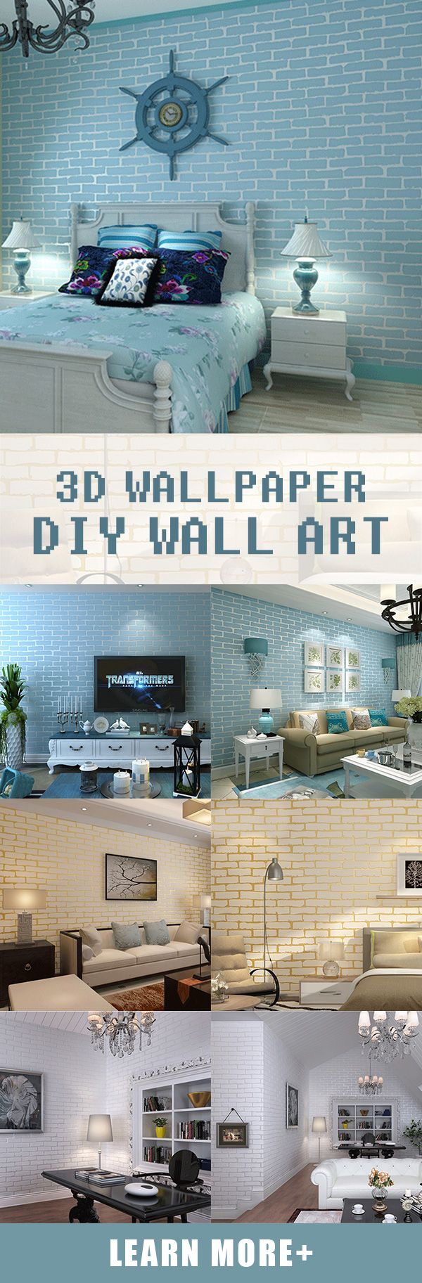 DIY the wall decoration with creative wall paper design#newchic ...