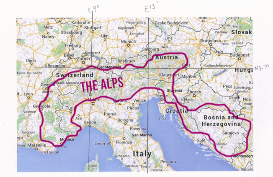 map of europe the alps Swiss Alps Location   The Swiss Alps | Swiss alps map, Swiss alps