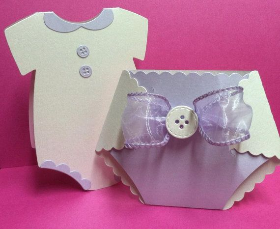 Diaper Invitation  Onesie Thank You Card By Invitesbyana On Etsy