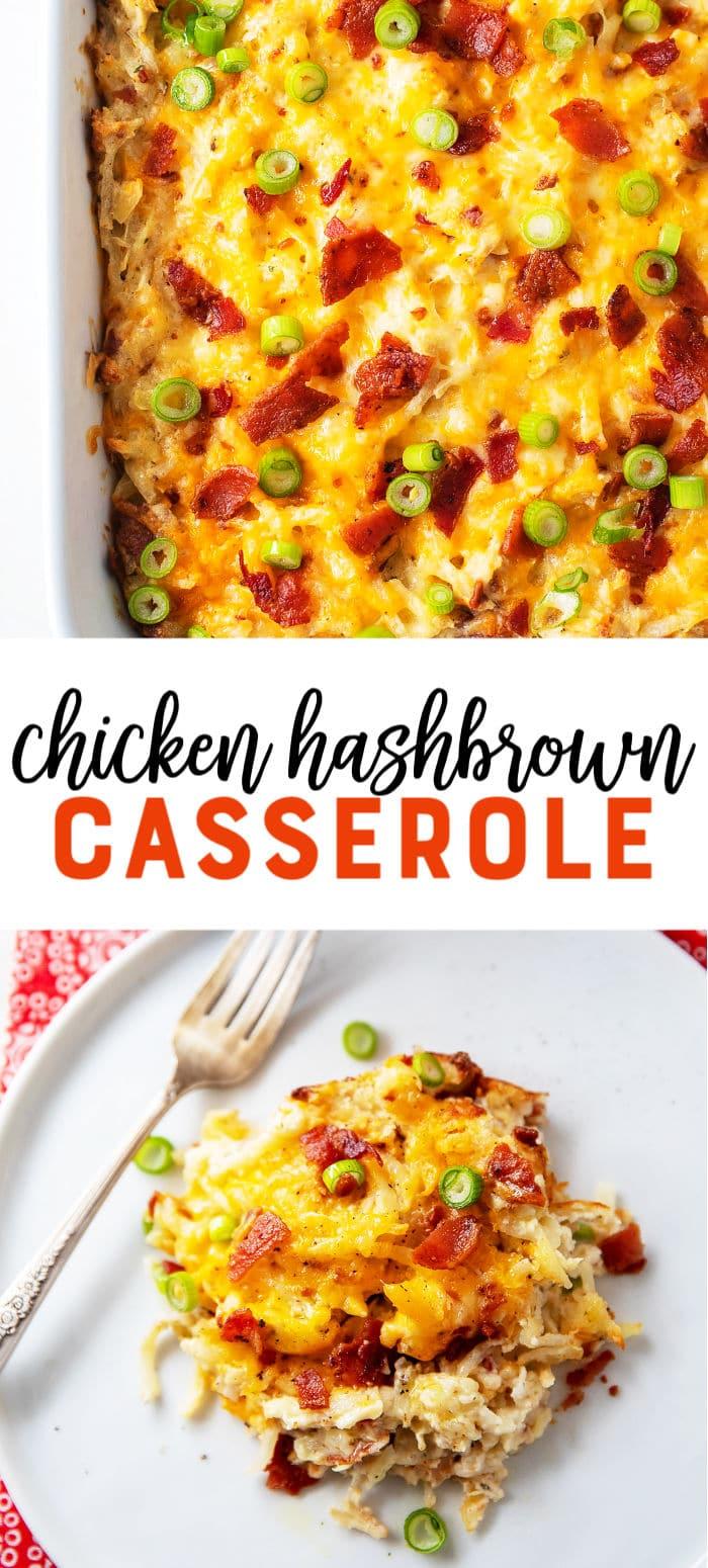 Chicken Bacon Hashbrown Casserole Recipe - This easy loaded chicken hashbrown casserole is your new