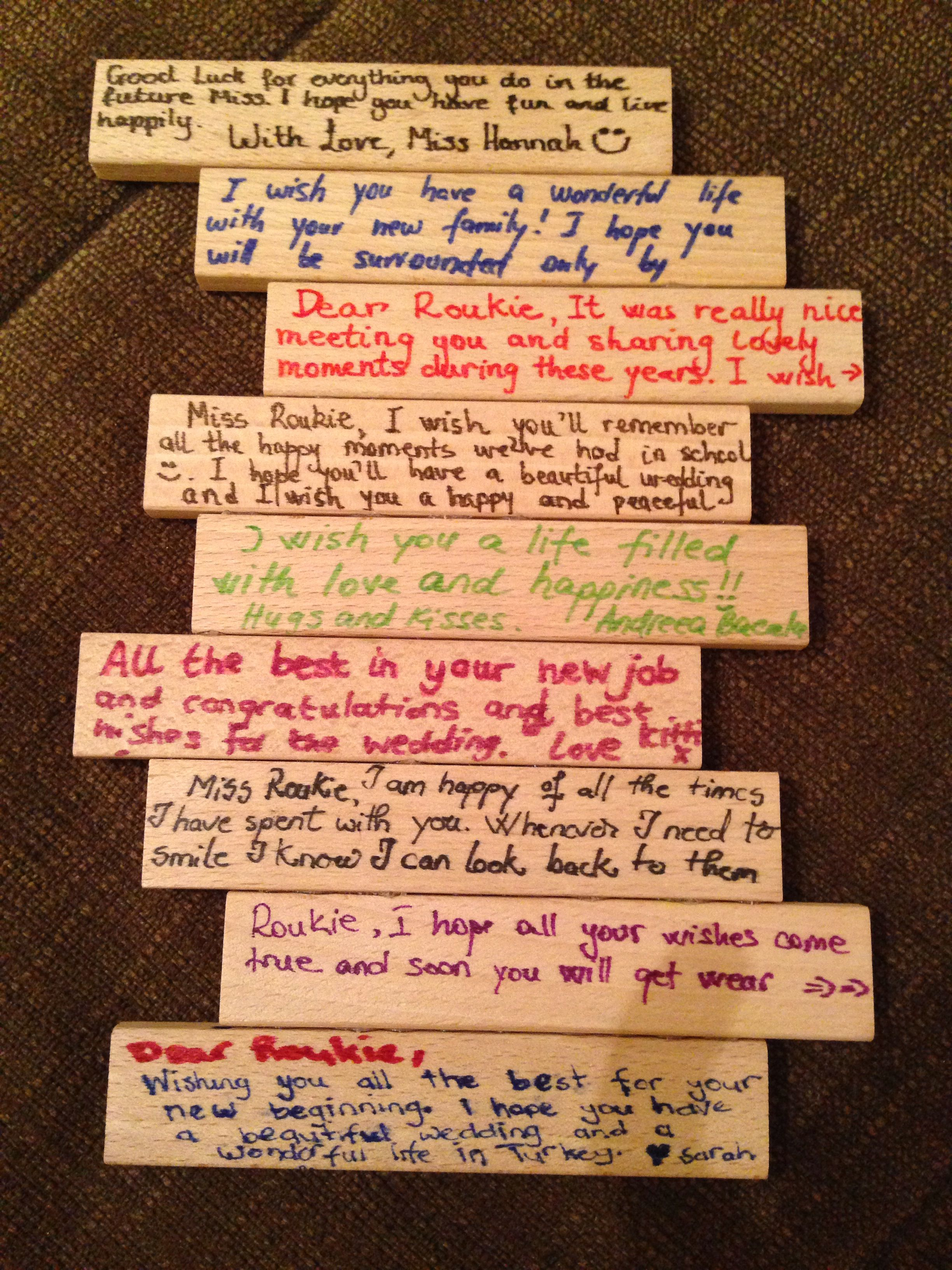 Scrapbook ideas goodbye - Farewell Gift Using Jenga