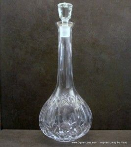 Crystal Tear Drop Decanter - Entertaining? Make a statement!
