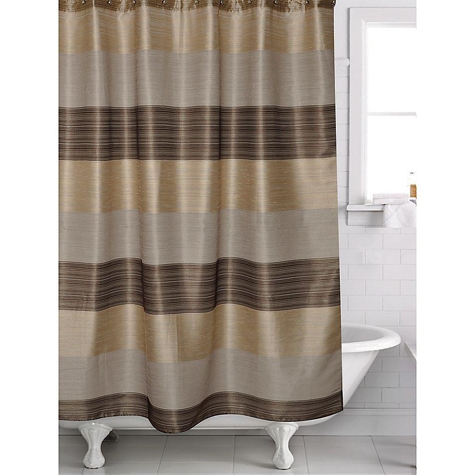 Alys Shower Curtain In Bronze Shower curtain track
