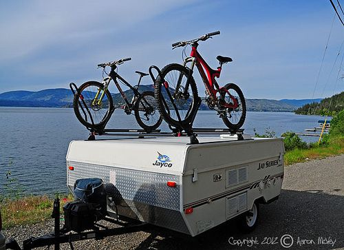 yakima roof bike rack system on our