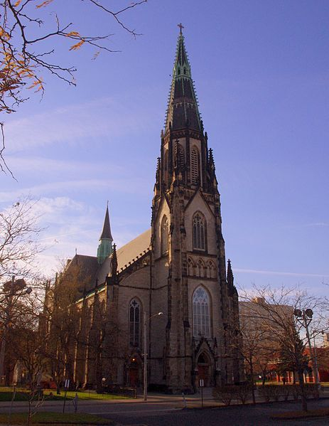 File:Saint Joseph Catholic Church (Detroit, MI) - exterior, quarter view.jpg