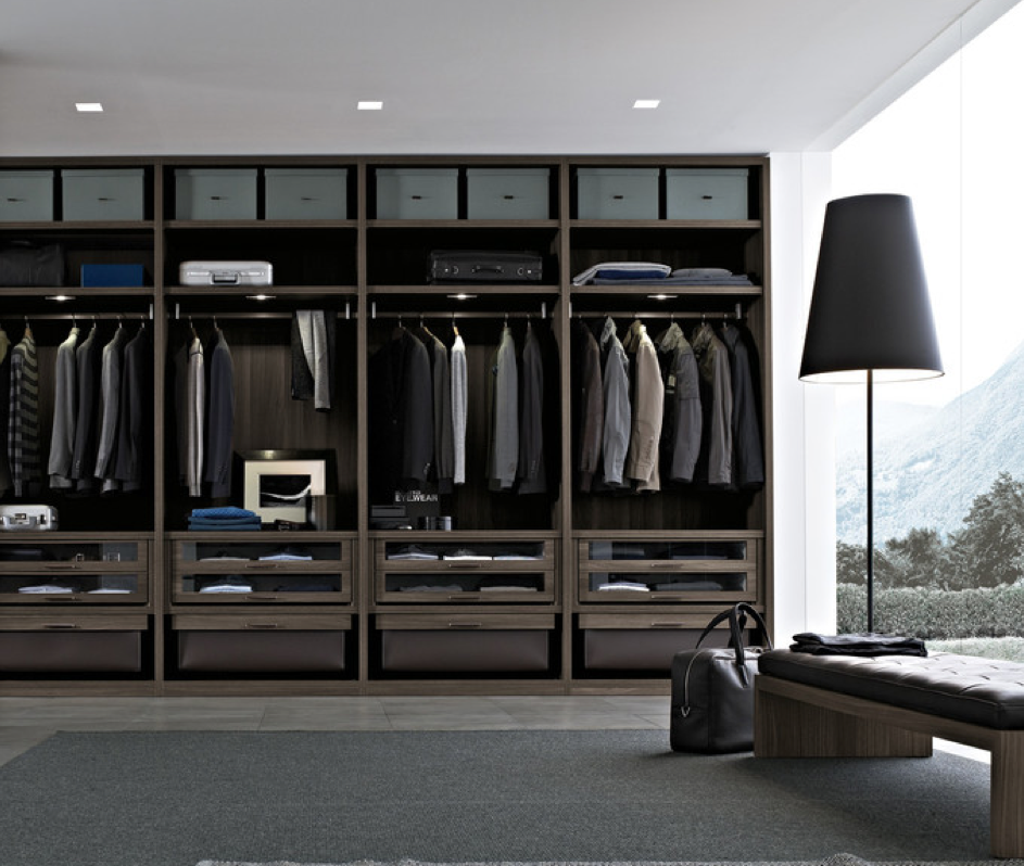 Pin by frits de vries architect ltd on closets for Men s walk in wardrobe
