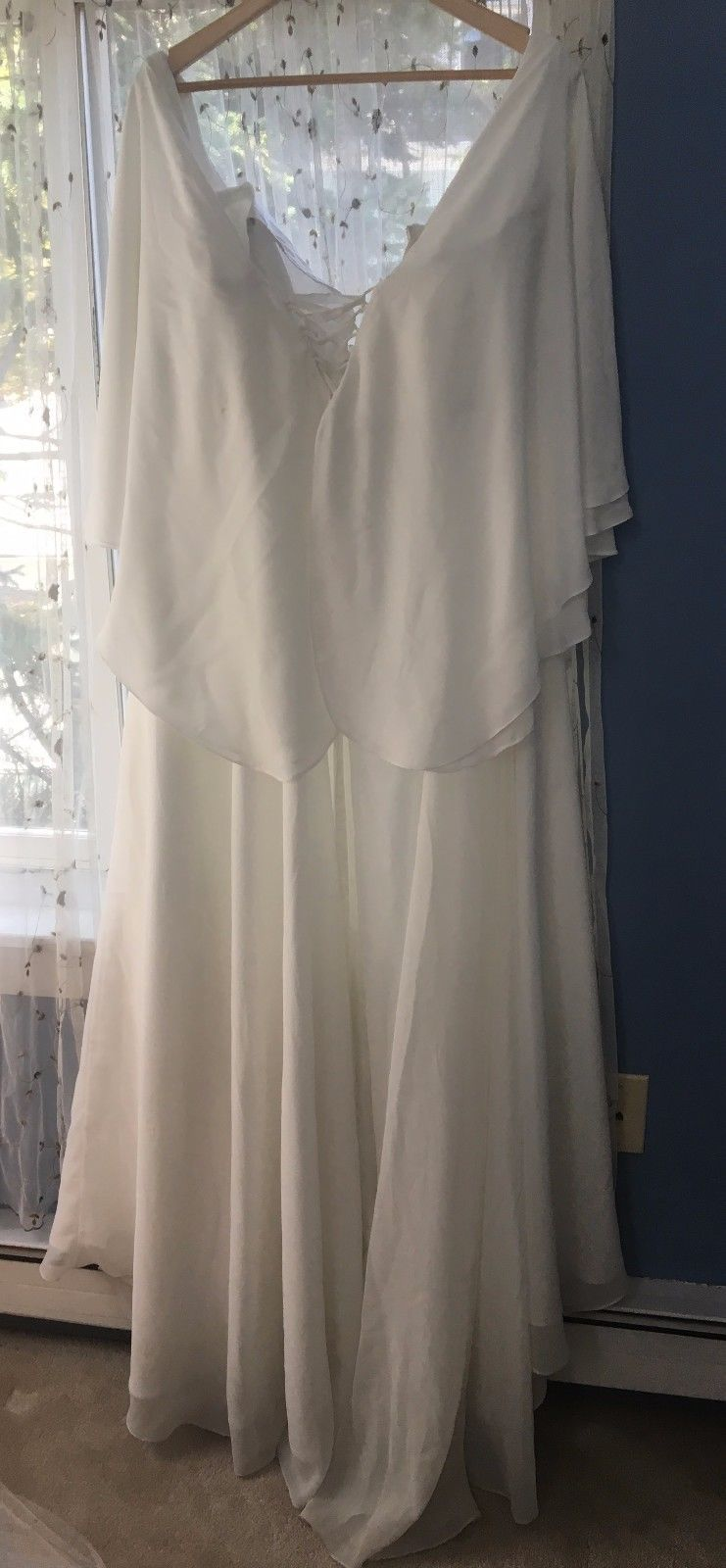 Cool great white wedding dress size with butterfly sleeves