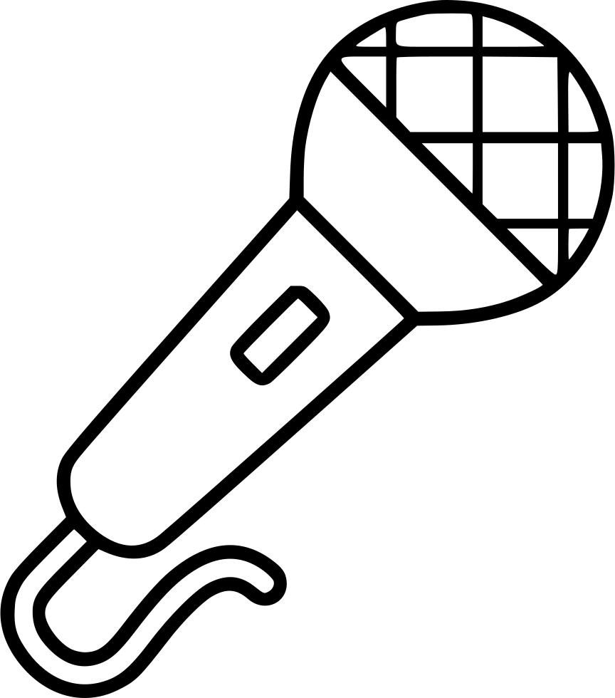 Music Dj Karaoke Mic Microphone Microphone Drawing Karaoke Easy Drawings Sketches