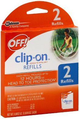 Off! Clip-On Repelente de mosquitos recargas Sólo $ 0.50 En Kroger!