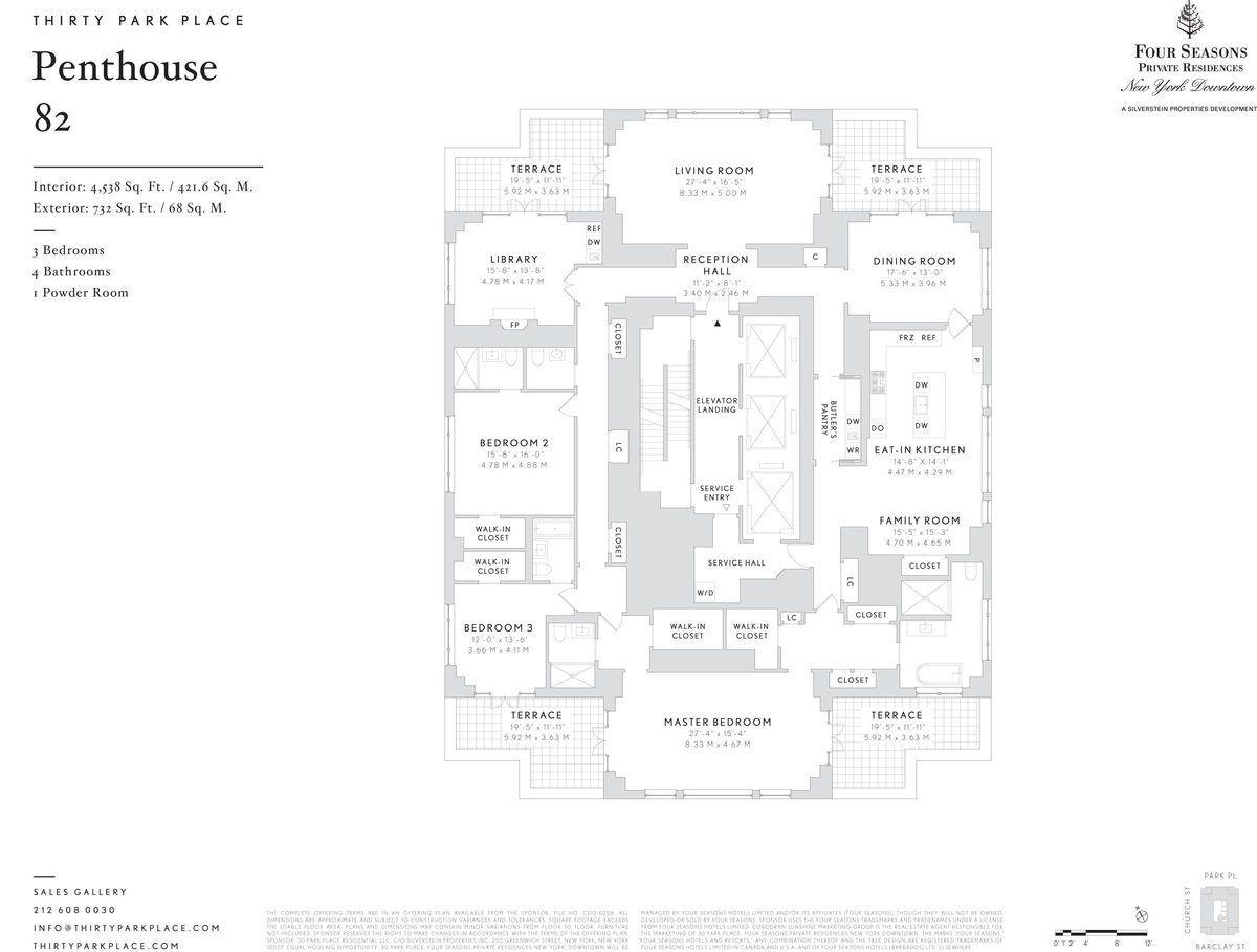 8 bonkers penthouse floorplans for 30 park place revealed
