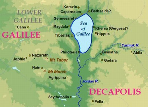 Sea Of Galilee Facts Sea Of Galilee Geography Map Facts