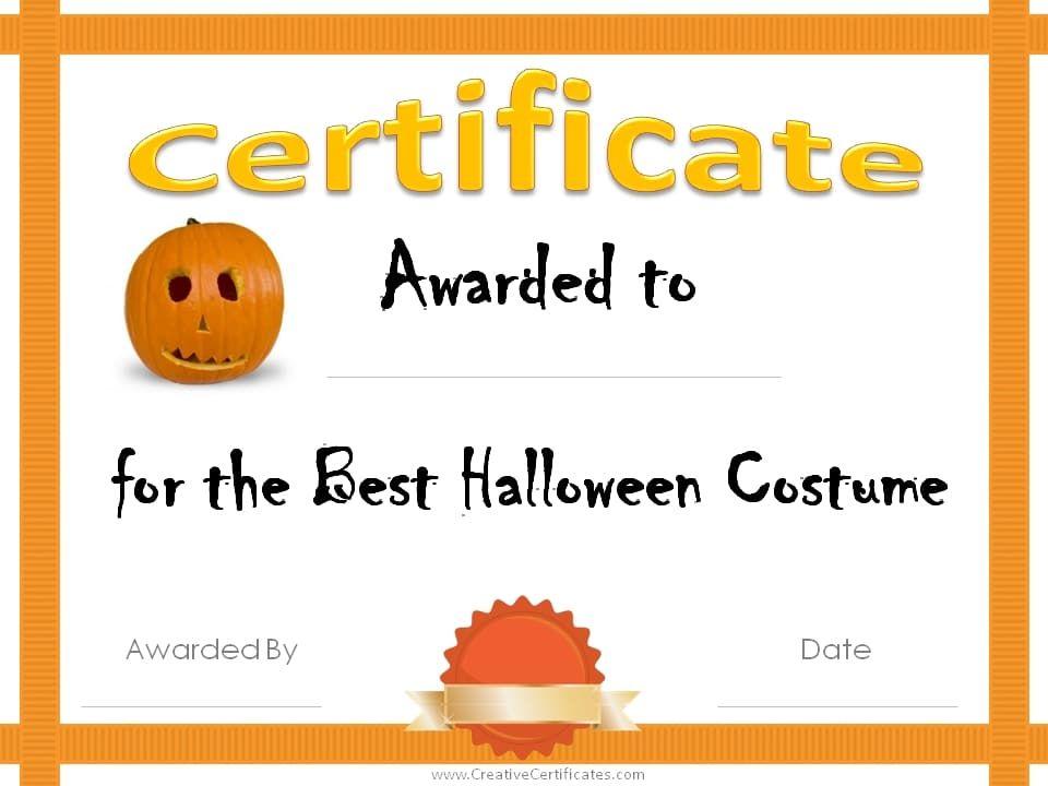 Printable Halloween Certificates Forteforic