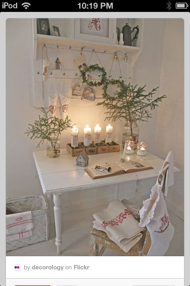 Shabby N Chic Christmas Decoration Decor Inspiration What An Inspiring Desk For Making Out My Cards Elegant Yet Cozy