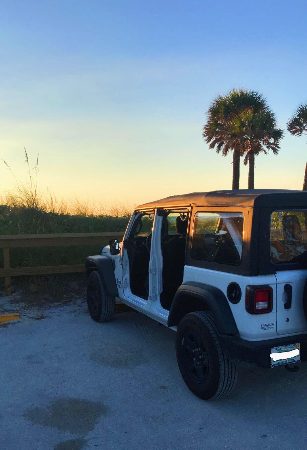 Jeep Wrangler Beach Sunset Doorsoff Wranglerjl Jeep Wave