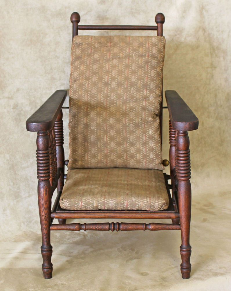 Antique morris chair - Wakefield Oak Child S Reclining Arts Crafts Era Morris Chair