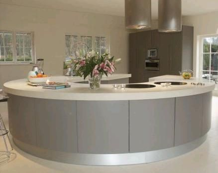 Round Kitchen Island living in style-americana circle-kitchen #round kitchen | kitchen